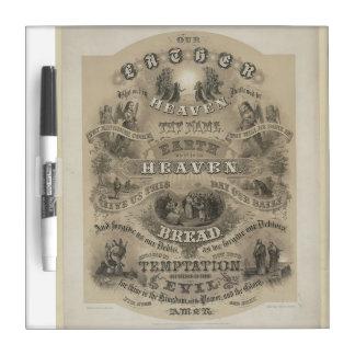 Vintage Our Father Prayer Dry Erase Whiteboard