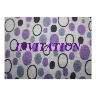 Vintage Oval Shapes Fabric Invitation
