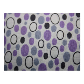 Vintage Oval Shapes Fabric Post Card