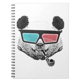 Vintage panda 3-D glasses Notebook