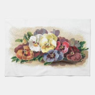 Vintage Pansies Kitchen Towels