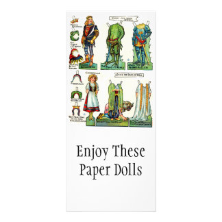 Vintage Paper Doll Promotional Cards Personalized Rack Card