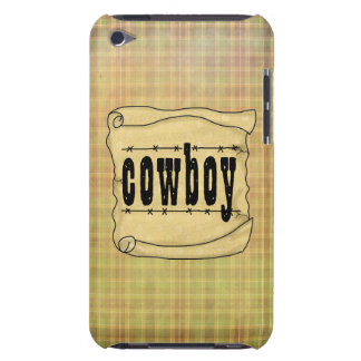 Vintage Paper w/Scroll Cowboy iPod iPod Touch Cover