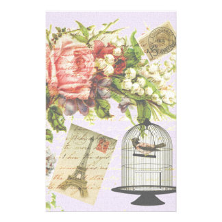 Vintage Paris- Birdcage Stationery