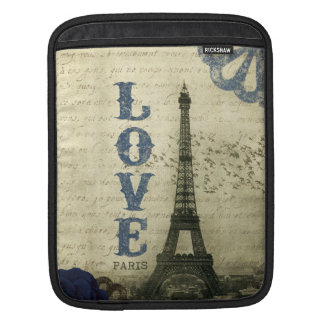Vintage Paris | Blue iPad Sleeve