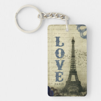 Vintage Paris | Blue Key Ring