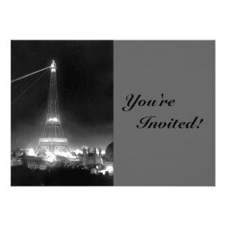 Vintage Paris Eiffel Tower Personalized Invite