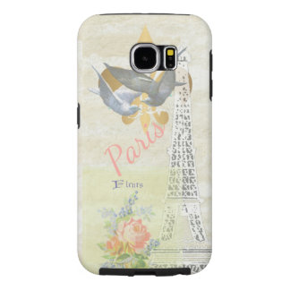 Vintage Paris Eiffel Tower Romantic Collage Samsung Galaxy S6 Cases