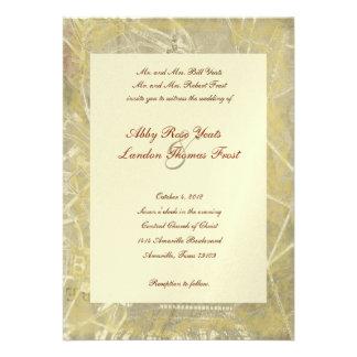 Vintage Paris Eiffel Tower Wedding Invitation
