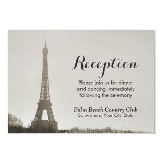 Vintage Paris Eiffel Tower Wedding Reception Card