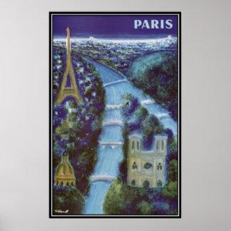 Vintage Paris France - Poster