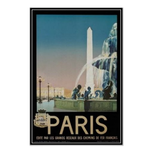 Vintage Paris, France - Print