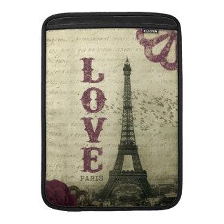 Vintage Paris MacBook Sleeve