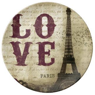 Vintage Paris Plate