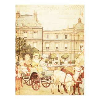 Vintage Paris Victorian Children Storybook Collage Postcards