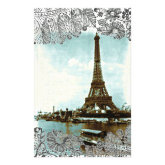 Vintage Paris Water Color Stationery