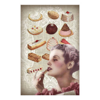 vintage pastry bridal shower tea party stationery