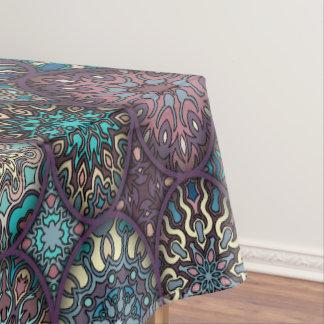 Vintage patchwork with floral mandala elements tablecloth