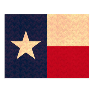 Vintage Pattern Texan Flag Postcard