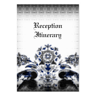 Vintage Peacocks & Floral Blue Goth Wedding Business Card Templates