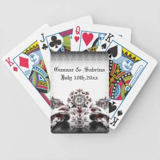 Vintage Peacocks & Floral Goth Wedding Deck Of Cards