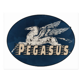 Vintage Pegasus Design Postcard