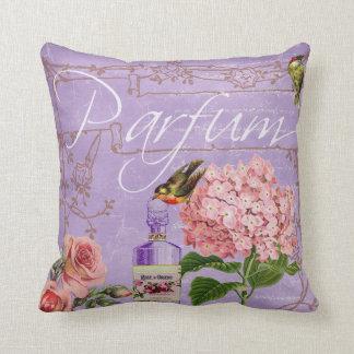 Vintage Perfum Throw Pillow