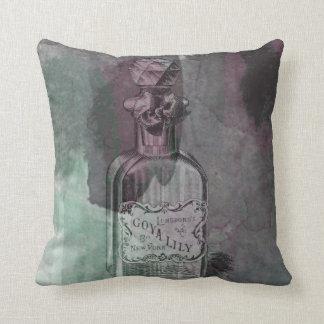 Vintage Perfume Bottle Pillow