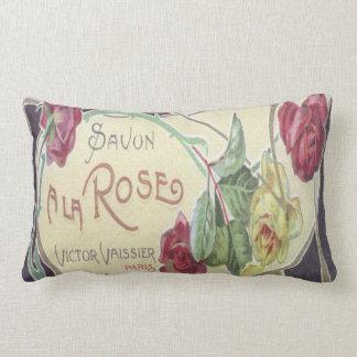 Vintage Perfume Label A La Rose Pillow