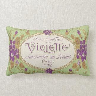 Vintage Perfume Label Lumbar Pillow-Paris No 963 Lumbar Pillow