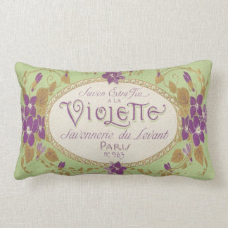 Vintage Perfume Label Lumbar Pillow-Paris No 963 Lumbar Pillow