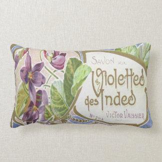 Vintage Perfume Label Pillow~Violettes des Indes Lumbar Pillow