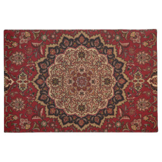 Vintage Persian Oriental Turkish Carpet Pattern Doormat