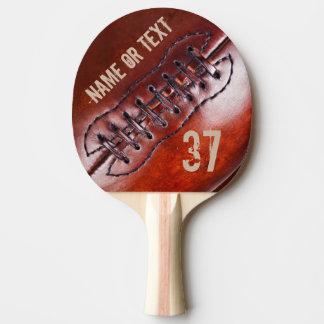 Vintage Personalised Football Ping Pong Paddle