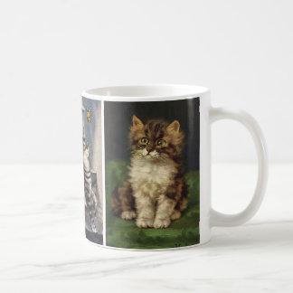 Vintage Pet Animals, Cute Striped Tabby Cat Kitten Coffee Mug