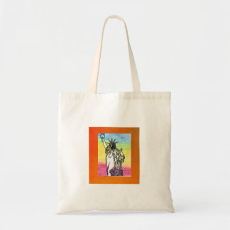 Vintage Peter Max 60s statue of liberty bag