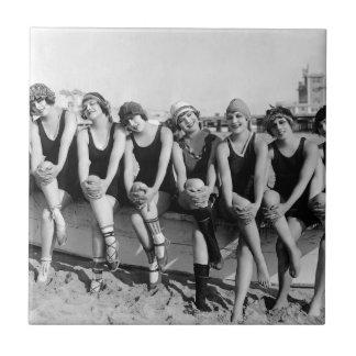 Vintage Photo Bathing Beauties Tile