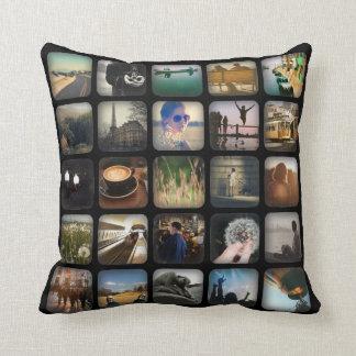 Vintage Photo Collage Retro Round Border Cushion