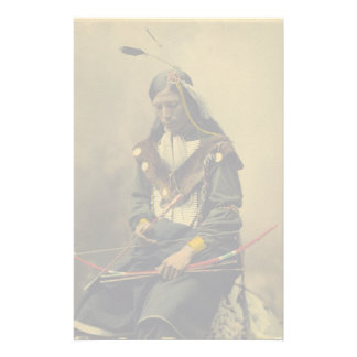 Vintage Photo Native American Lakota Indian Chief Stationery