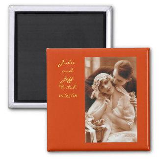 vintage photo wedding magnet