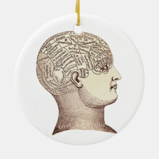 Vintage Phrenology Ornament Double Sided