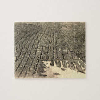 Vintage Pictorial Map of Baltimore (1912) Jigsaw Puzzle