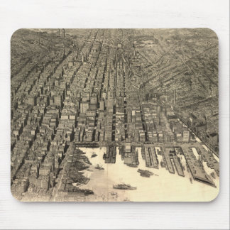 Vintage Pictorial Map of Baltimore (1912) Mouse Pad