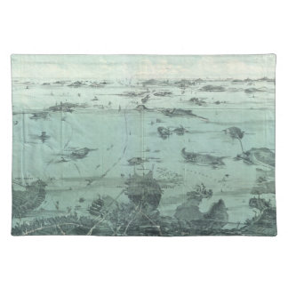 Vintage Pictorial Map of Boston Harbor (1897) Placemat