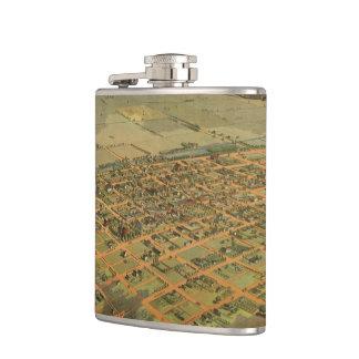 Vintage Pictorial Map of Phoenix Arizona (1885) Hip Flask