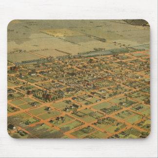 Vintage Pictorial Map of Phoenix Arizona (1885) Mouse Pad