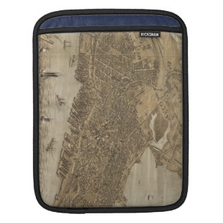 Vintage Pictorial Map of Portland Maine (1876) iPad Sleeve