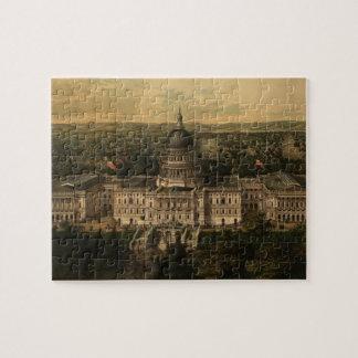 Vintage Pictorial Map of Washington D.C. (1857) Jigsaw Puzzle