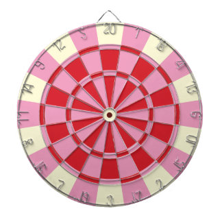 Vintage Pink And Red Dartboard