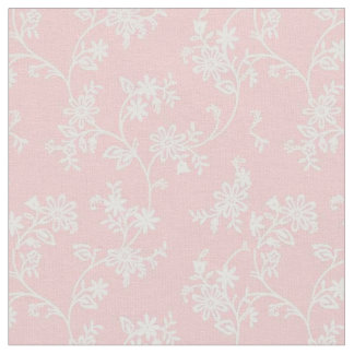 vintage pink and white pattern fabric